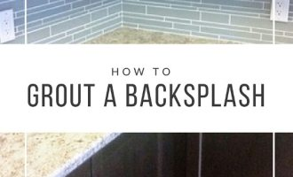 How to Grout a Back Splash