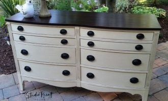 "Eight Drawer Painted Malcolm Dresser ""Joanne"""