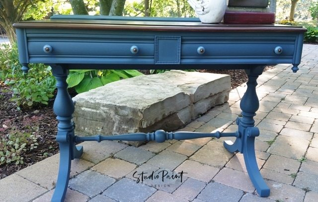 painted Malcolm sofa table desk