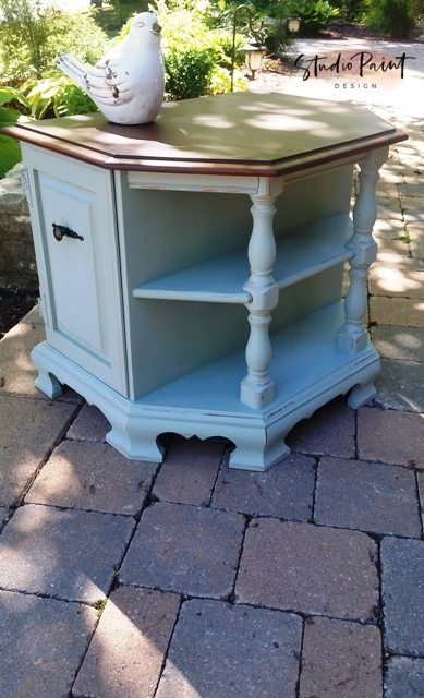 painted maple end table