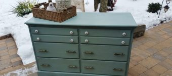 """Painted Maple Change Table Dresser """"Lakeshore"""""""