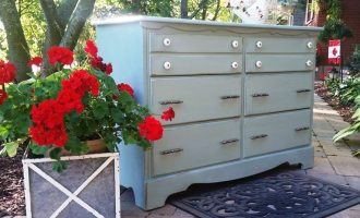 "Painted Maple Change Table Dresser ""Lakeshore"""
