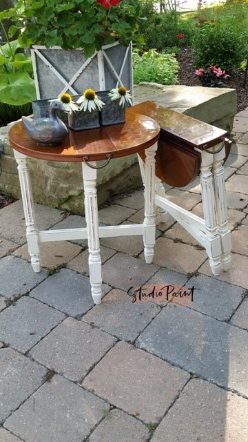 painted folding end tables