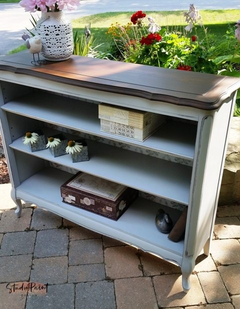 French Provincial Painted Book Shelf