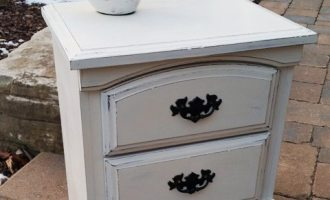 "Painted Country Chic Night End Table ""Walker"""