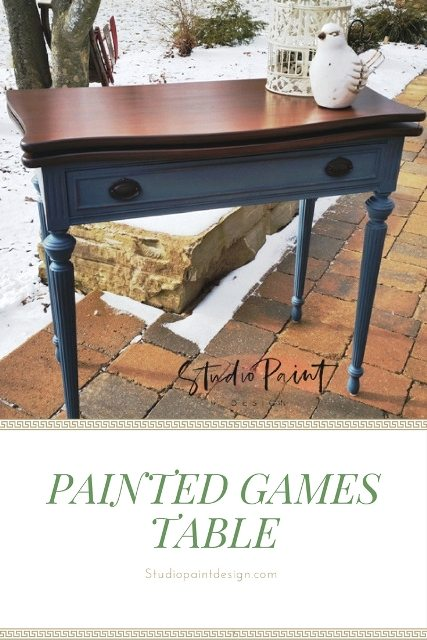 painted games table