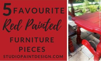 5 Favourite Red Painted Furniture Pieces