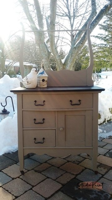 Painted Antique Washstand