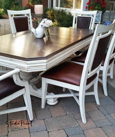 Antique Painted Jacobean Dining Table Julie Anne Studio Paint Design