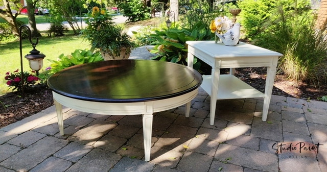 Painted And Refinished Bombay Coffee Table Set Lisa Marie Studio Paint Design