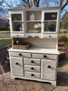 painted maple hutch