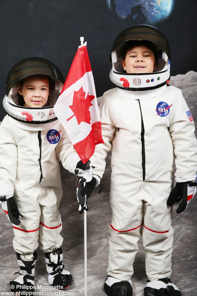 2 garçons astronautes