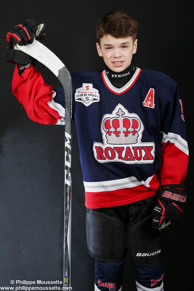 Hockeyeur avec son équipement
