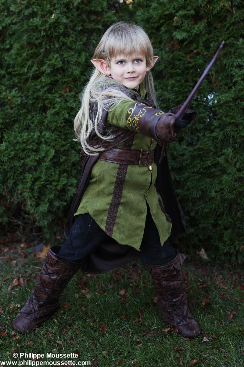 Enfant déguisé en elfe