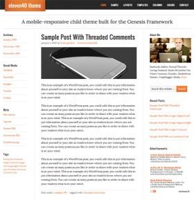 Genesis Child theme Eleven 40