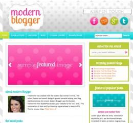 Genesis Child theme third party Modern Blogger