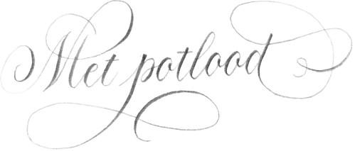 Kalligraferen met potlood
