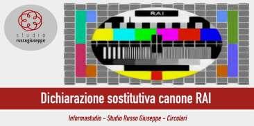 Dichiarazione sostitutiva canone RAI - studiorussogiuseppe
