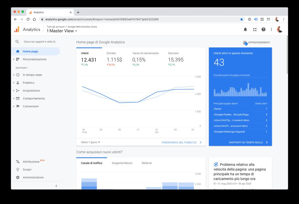 Google Analytics: come iniziare, da zero.