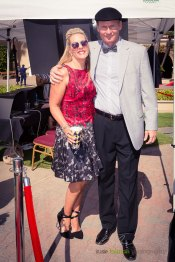 Producer and DMTC Promotions Director Chris Bahr poses with Producer & Creative Director Deena Von Yokes.