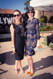 The beautiful and clever style style bloggers Jenna Pilant and Maria Von Losch are always a welcome site as they judge contestants for the Hollywood Fashion Contest during the 2015 Bing Crosby Opening Day at Del Mar.