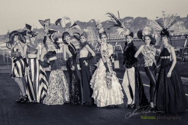 Models styled by Deena and Studio Savvy at 2015 Bing Crosby Opening Day at Del Mar