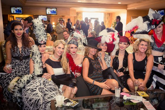 The ladies were the show! Having a great time in the Turf Club at 2015 Bing Crosby Opening Day at Del Mar