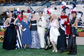 Celebrities and Studio Savvy Models in the Winners Circle at the 2015 Bing Crosby Opening Day at Del Mar