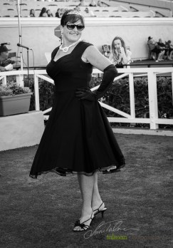 2nd place Celebrity Look-Alike of Audrey Hepburn at the 2015 Bing Crosby Opening Day at Del Mar