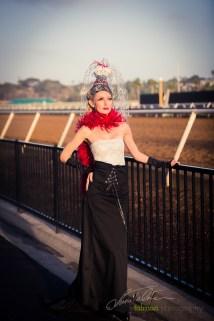 Tatiana styled by Deena and Studio Savvy at 2015 Bing Crosby Opening Day at Del Mar
