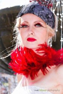 Tatiana Slepova in Hollywood Fashion styled look by Deena and Studio Savvy at 2015 Bing Crosby Opening Day at Del Mar