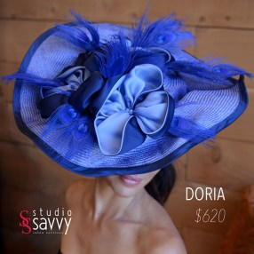 Doria Woman's Hat. Come out for the Studio Savvy Salon Trunk Show-Hat Sale, July 13th, 2016