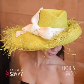 Doris Woman's Hat. Come out for the Studio Savvy Salon Trunk Show-Hat Sale, July 13th, 2016