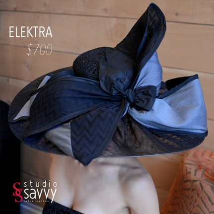 Elektra Woman's Hat. Come out for the Studio Savvy Salon Trunk Show-Hat Sale, July 13th, 2016