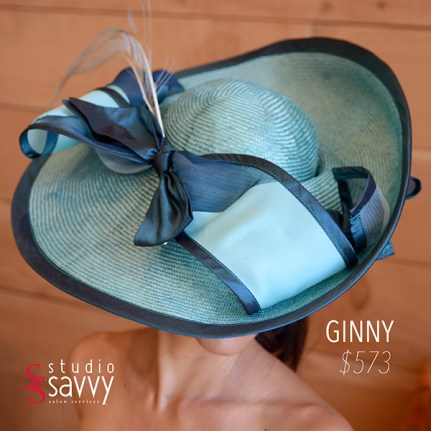 Ginny Woman's Hat. Come out for the Studio Savvy Salon Trunk Show-Hat Sale, July 13th, 2016