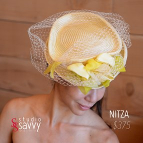 Nitza Woman's Hat. Come out for the Studio Savvy Salon Trunk Show-Hat Sale, July 13th, 2016