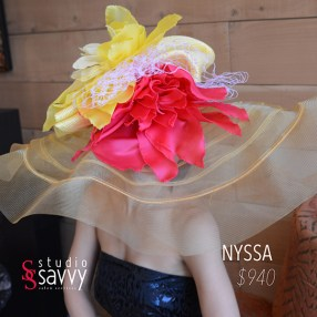 Nyssa Woman's Hat. Come out for the Studio Savvy Salon Trunk Show-Hat Sale, July 13th, 2016