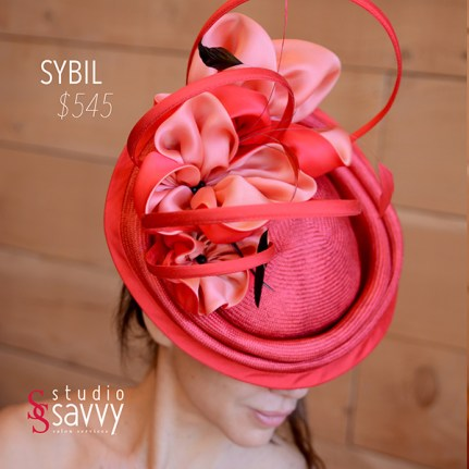 Sybil Woman's Hat. Come out for the Studio Savvy Salon Trunk Show-Hat Sale, July 13th, 2016