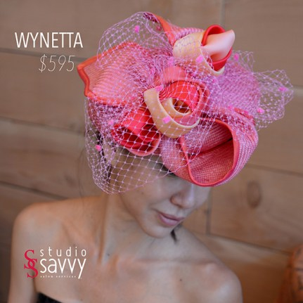 Wynetta Woman's Hat. Come out for the Studio Savvy Salon Trunk Show-Hat Sale, July 13th, 2016