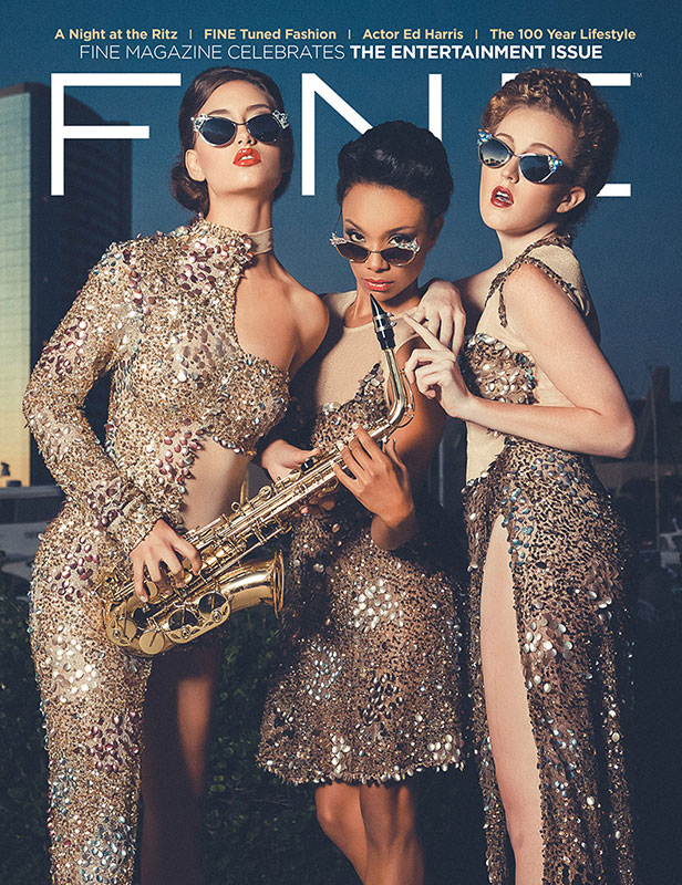 FINE Tuned Fashion. Magazine Cover. Feel the Beat of Fall Fashion. Hair Styling by Studio Savvy - Deena Von Yokes. Make-up by Eileen Haligowski.