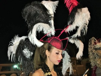 Hat by Christine Moore, style by Deena Von Yokes and the Studio Savvy Glamsquad at Opening Day of the Bing Crosby Race Season, Del Mar Fall 2015.