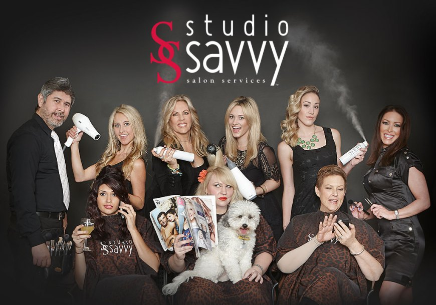 Studio Savvy's Hair & Make-Up Team having fun! Deena Von Yokes, Kassidy Byers Vaughan, James Overstreet, Eileen Haligowski, Bonnie Todd, Victoria Sexsmith, Karin Scarlett, Brooke Hasselmann, Mariah Meerschaert