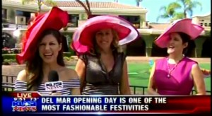 Opening Day at the Del Mar Racetrack with KUSI!