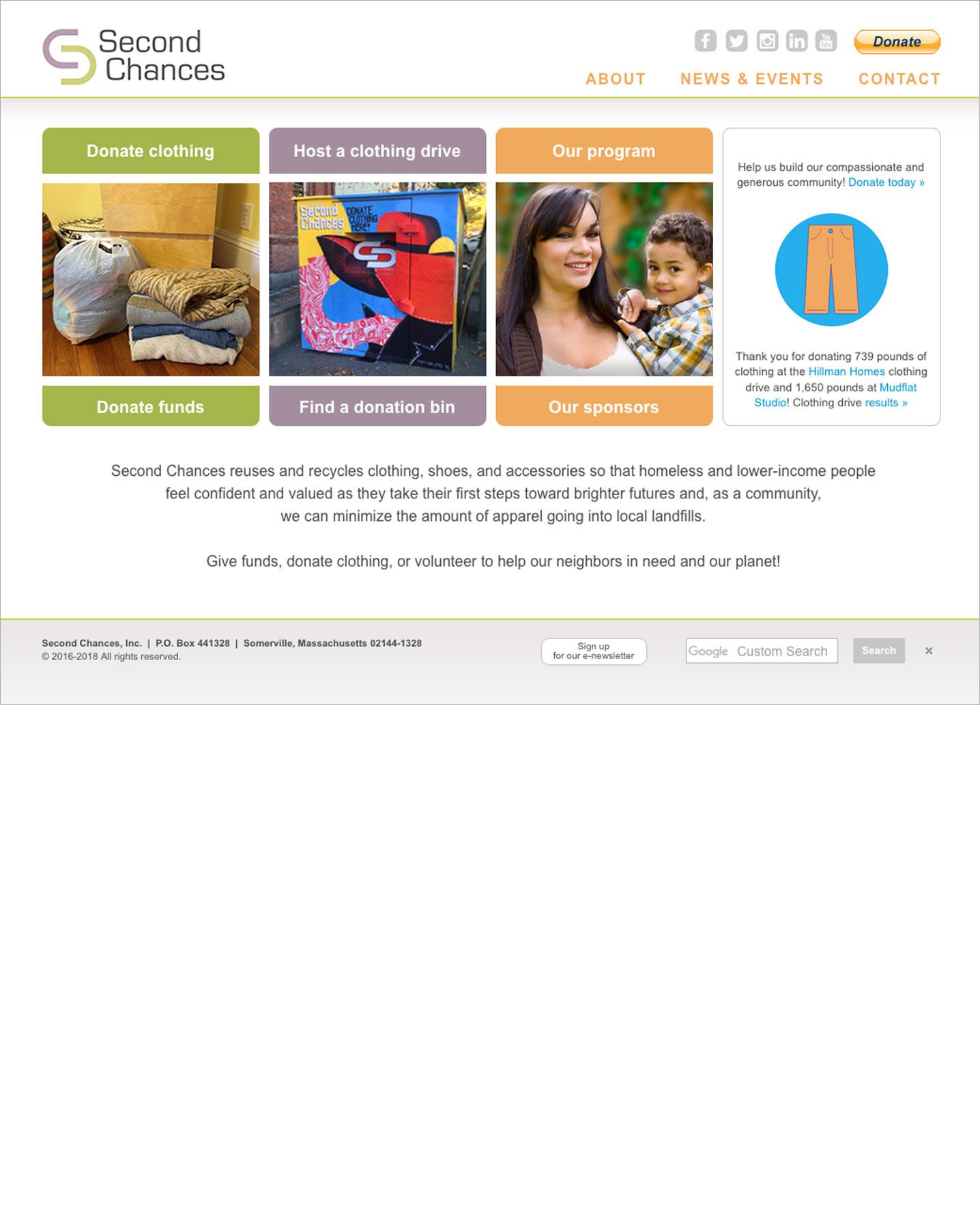 Second Chances Website
