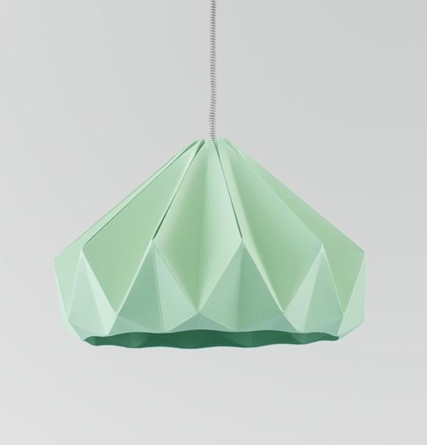 Chestnut gevouwen papieren origami lamp  Papieren origami