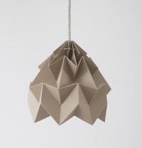 Moth paper origami lamp : Paper origami lampshades by ...