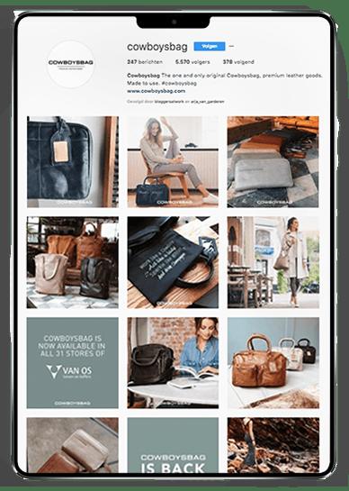 Social media-huisstijl voor Cowboysbag door Studio Solveig