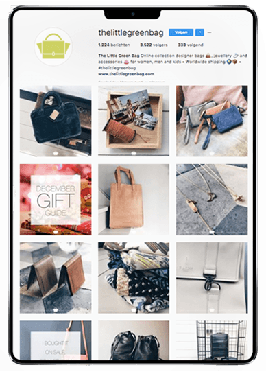 Social media-huisstijl voor The Little Green Bag door Studio Solveig