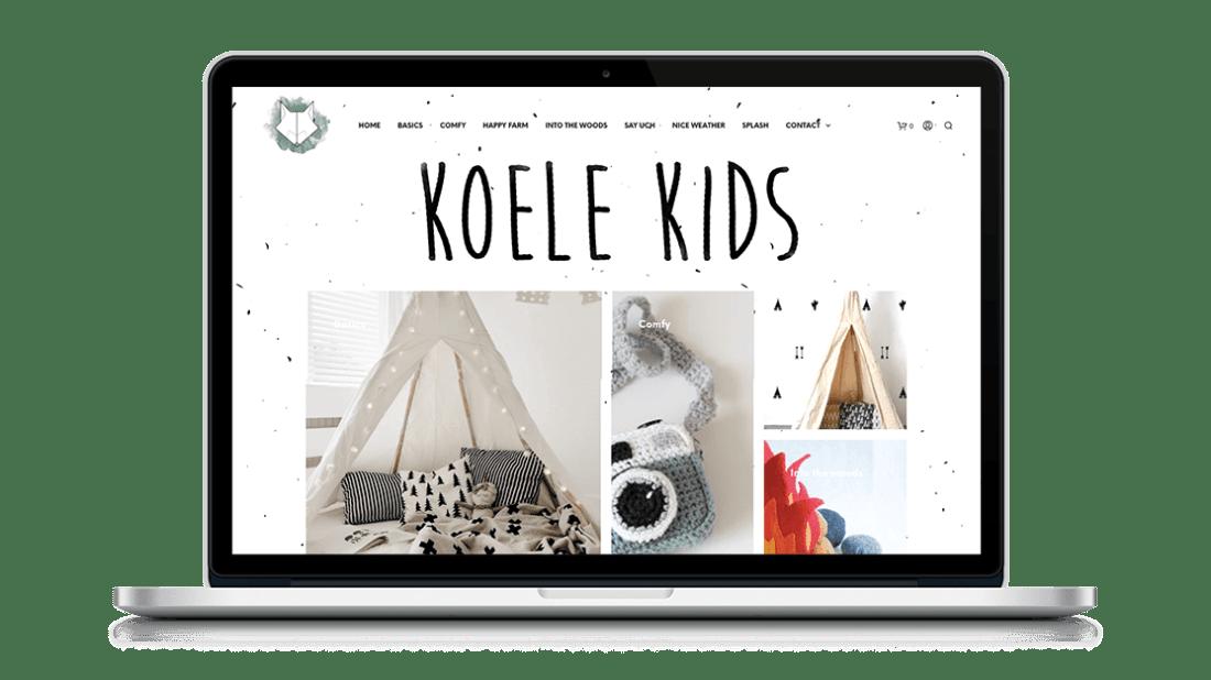 Website Koele Kids door Studio Solveig
