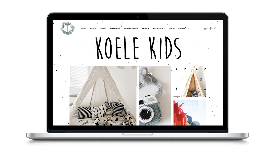 Website Koele Kids door Studio Solveig